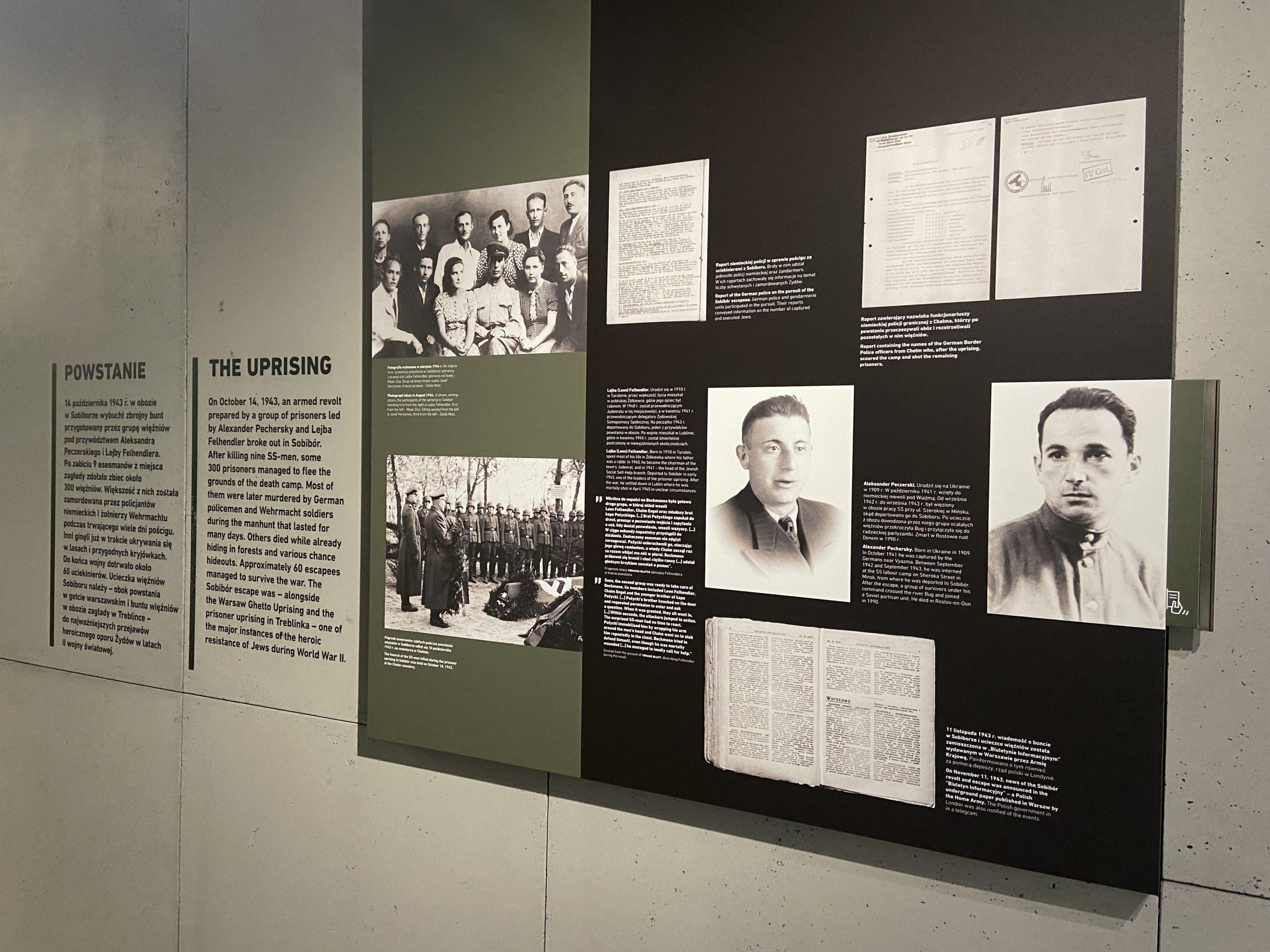 Auszug aus der neuen Ausstellung in der Gedenkstätte des deutschen Vernichtungslagers Sobibor